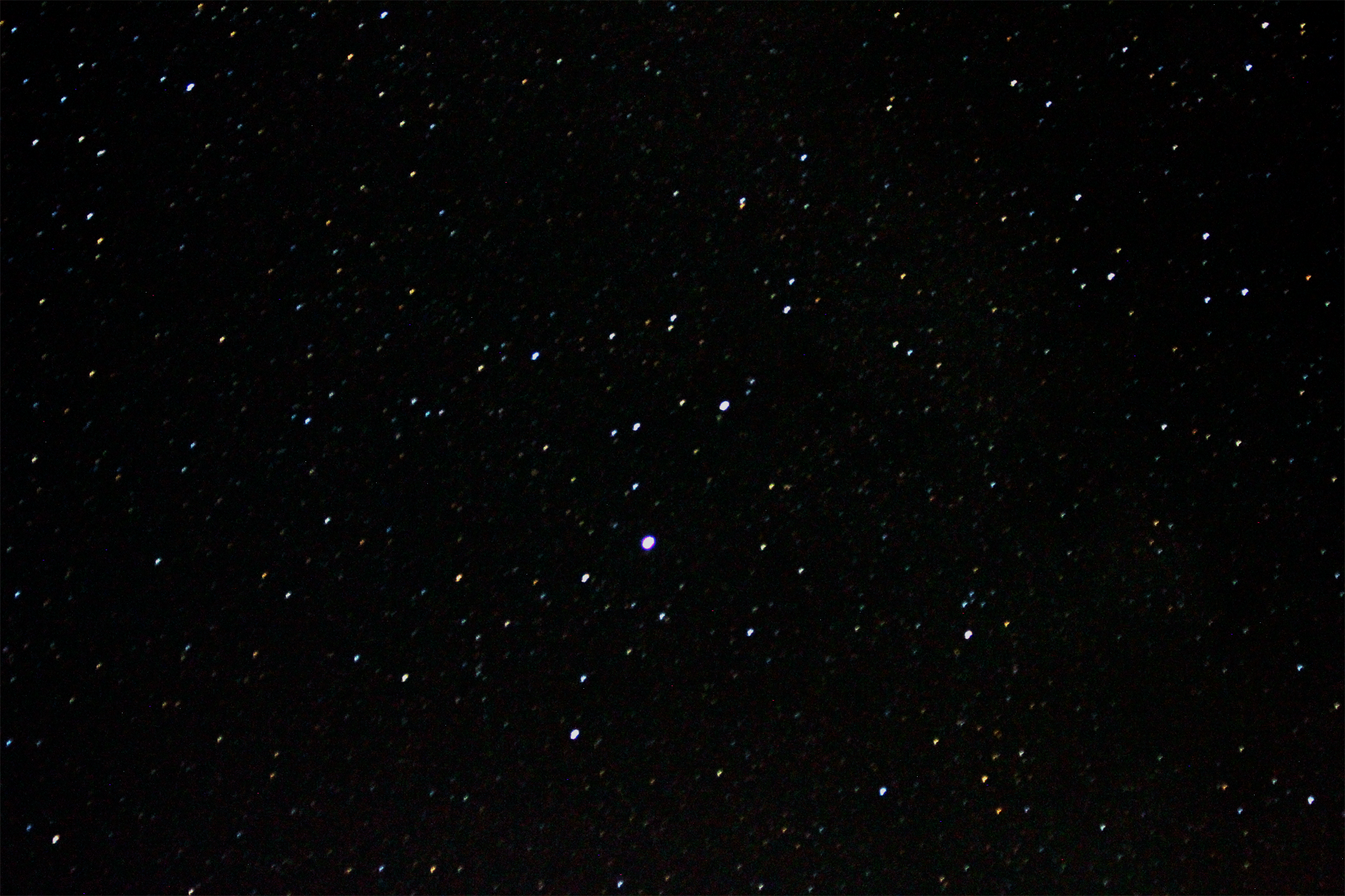 Took an image of the night sky yesterday